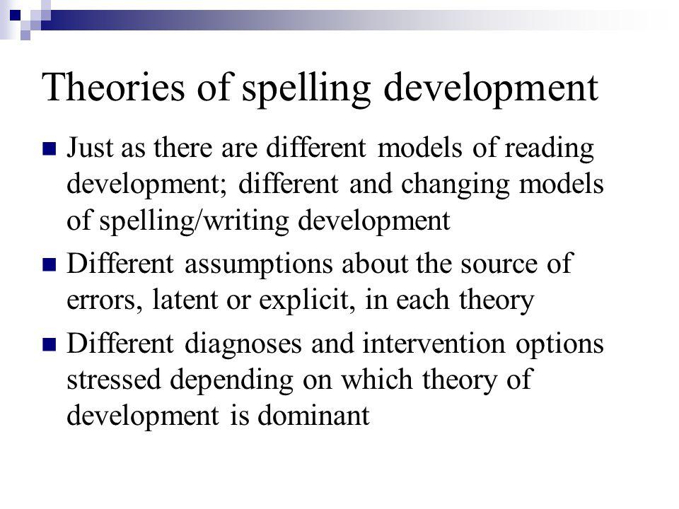 Theories of spelling development
