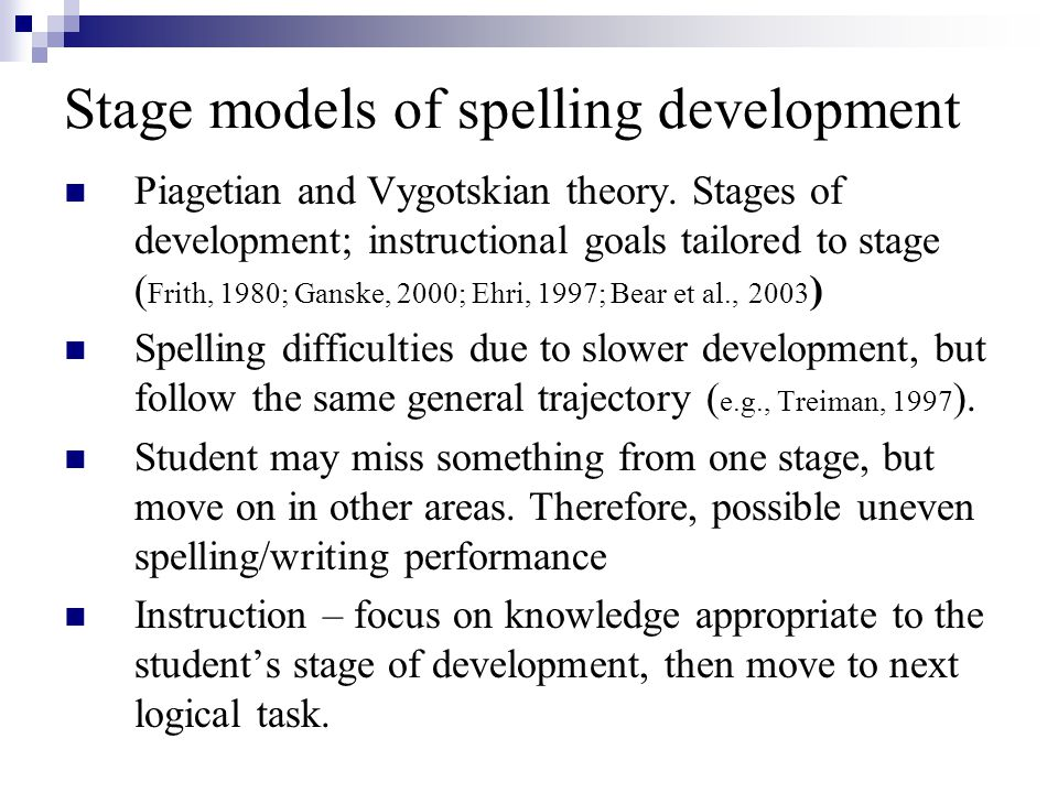 essay on spelling development Pdf | bear and templeton address two broad questions in this article: what is  our understanding of spelling development and how does this understanding fit.
