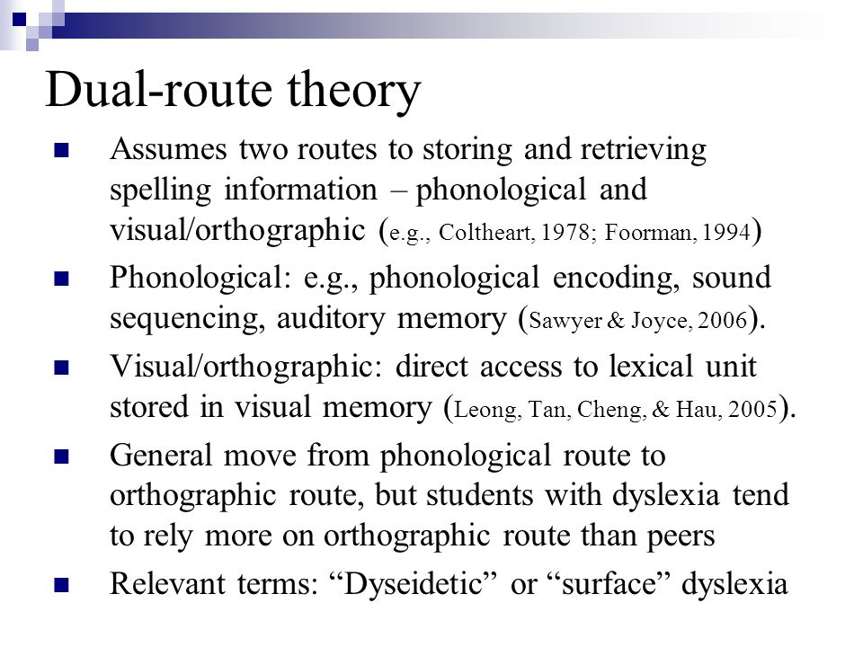 Dual-route theory