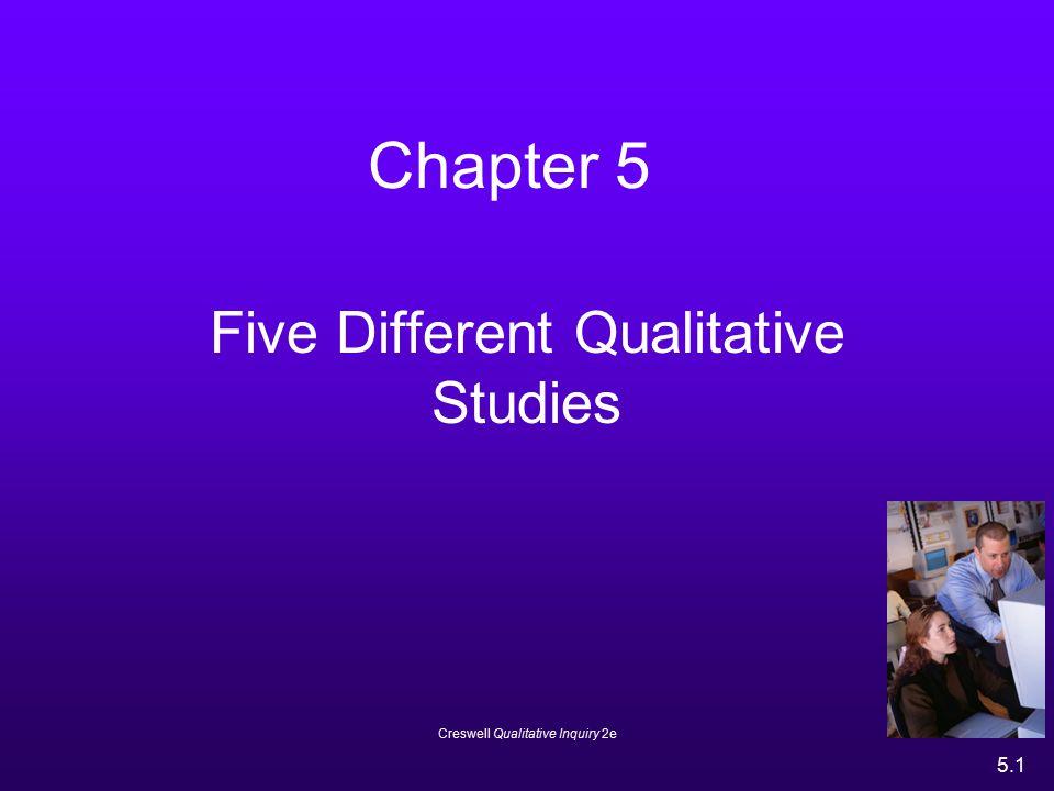 Five Different Qualitative Studies