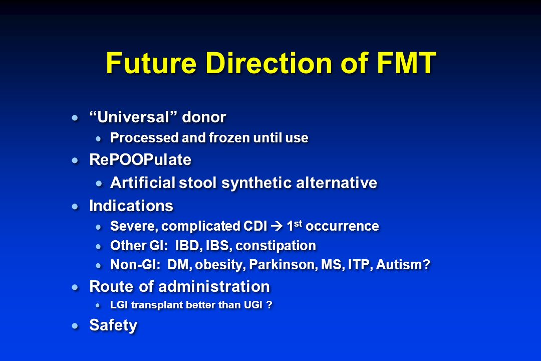 Future Direction of FMT