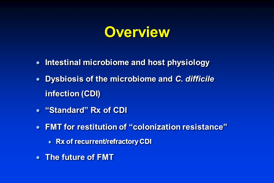 Overview Intestinal microbiome and host physiology