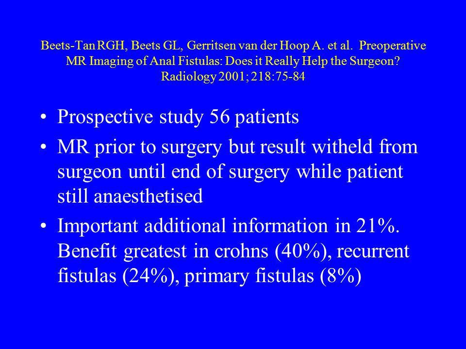 Prospective study 56 patients