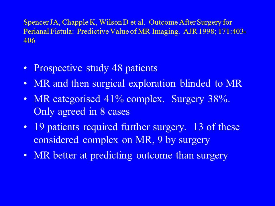 Prospective study 48 patients