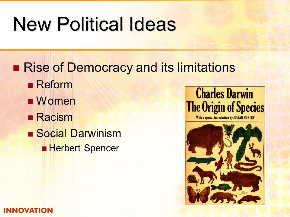 New Political Ideas Rise of Democracy and its limitations Reform Women