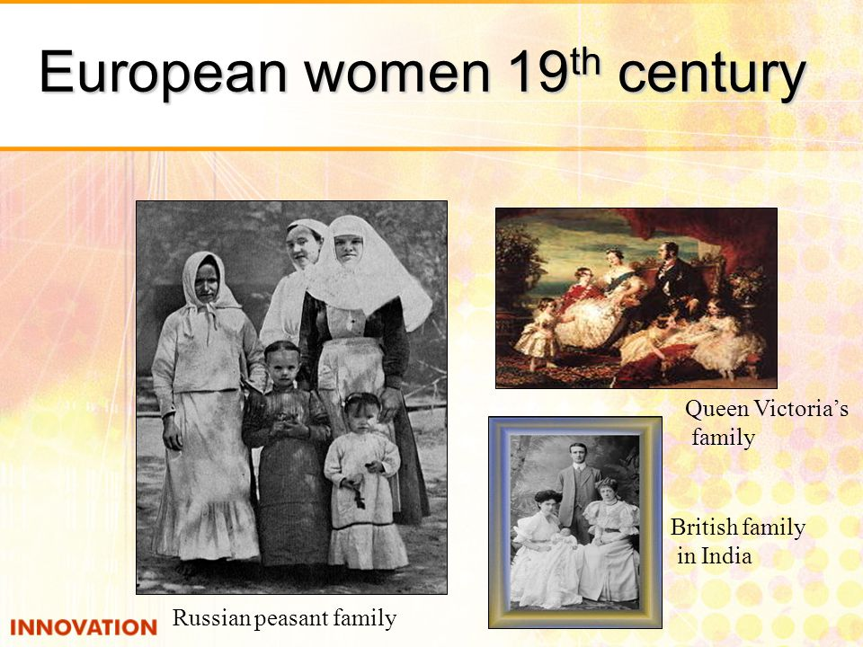 European women 19th century