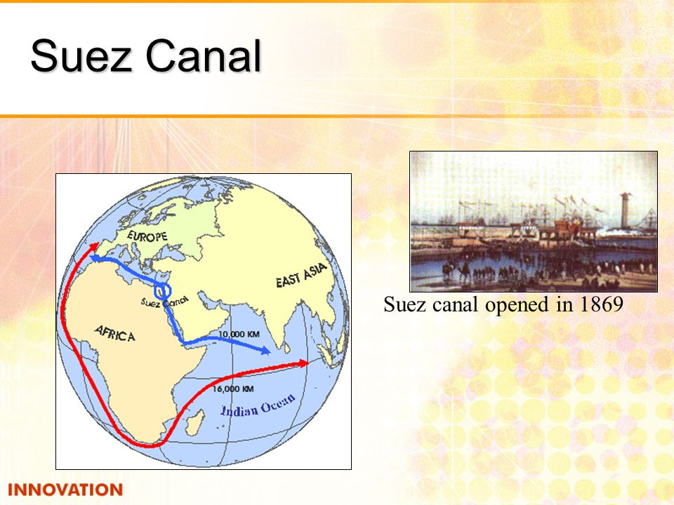 Suez Canal Suez canal opened in 1869