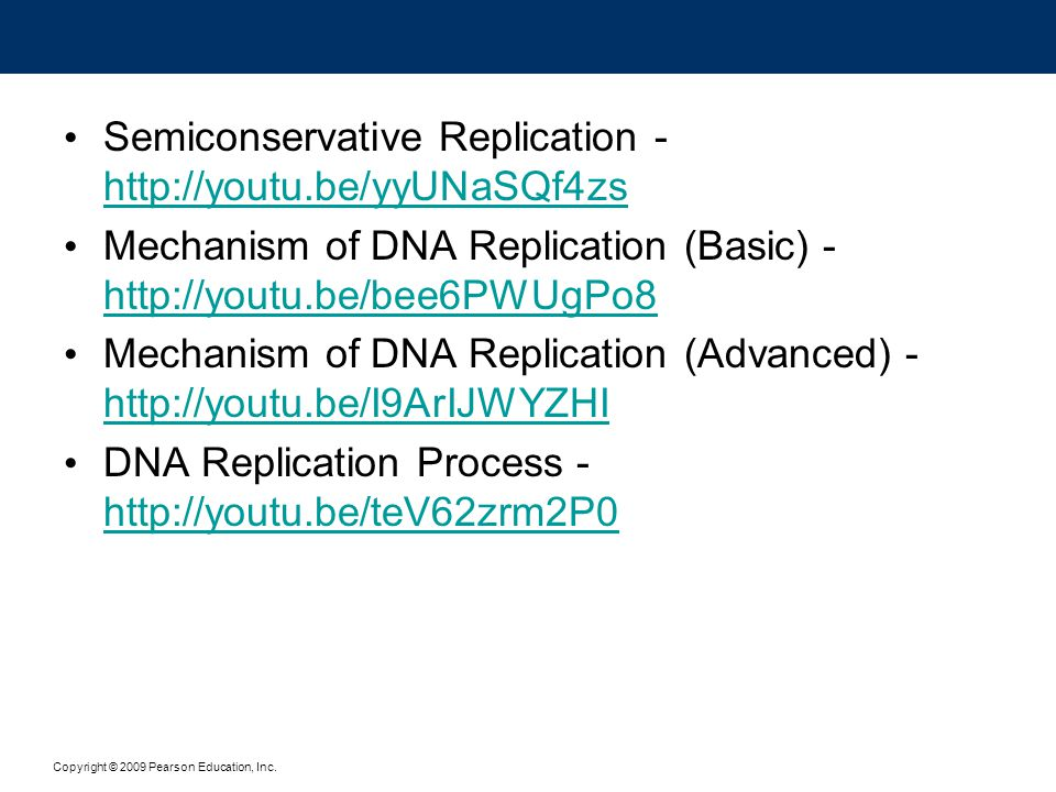 Semiconservative Replication - http://youtu.be/yyUNaSQf4zs