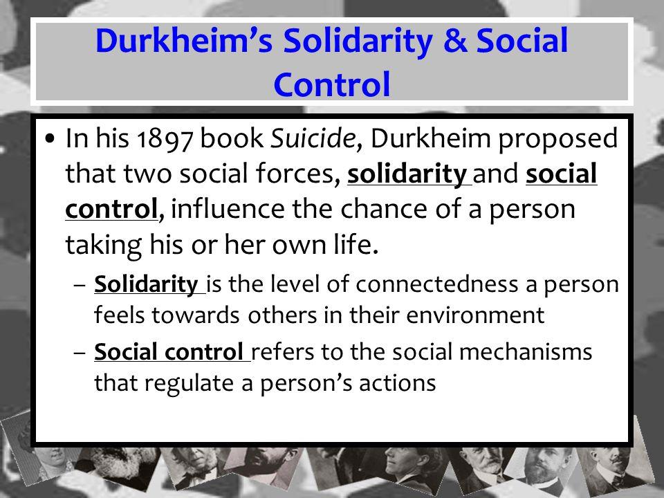 Durkheim's Solidarity & Social Control