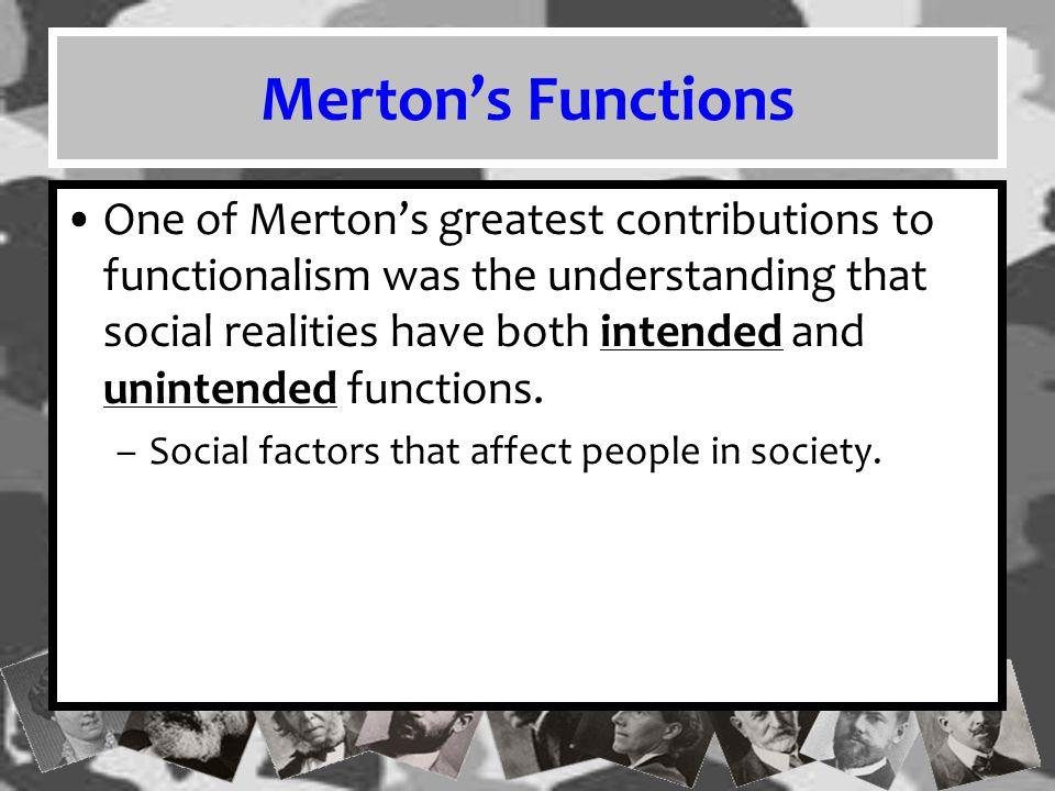 Merton's Functions