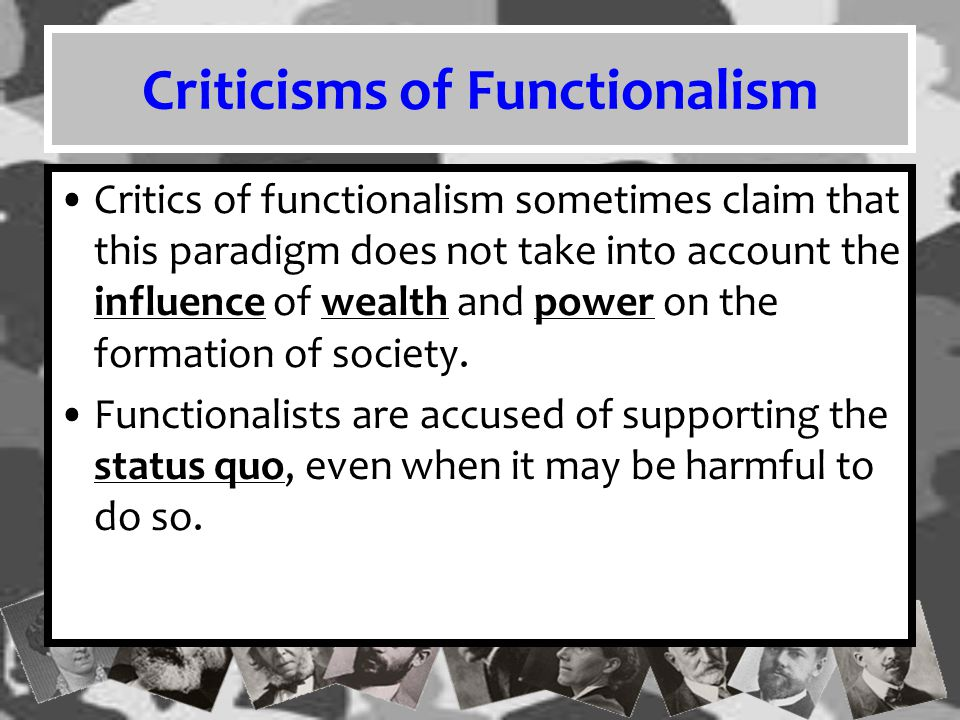Criticisms of Functionalism