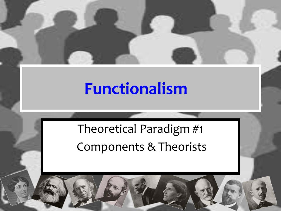 Theoretical Paradigm #1 Components & Theorists