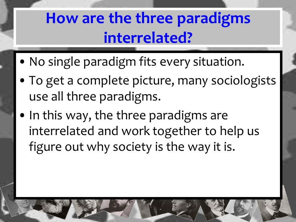 How are the three paradigms interrelated