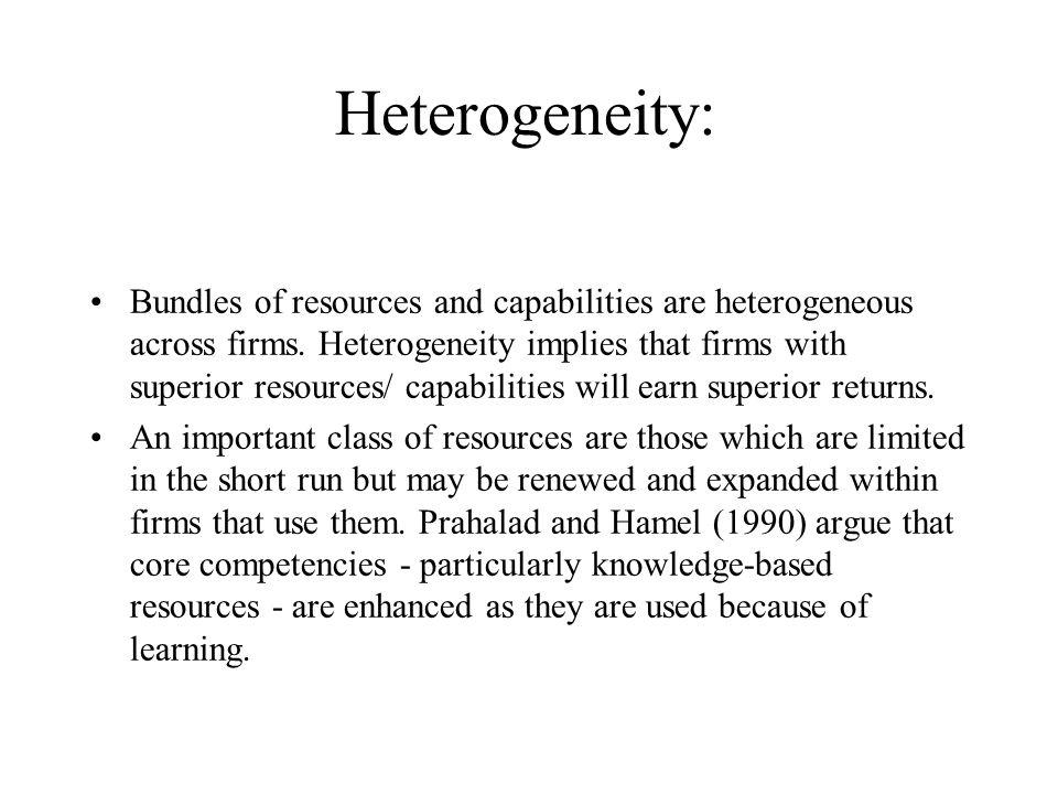 Heterogeneity: