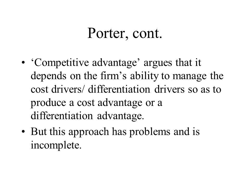 Porter, cont.
