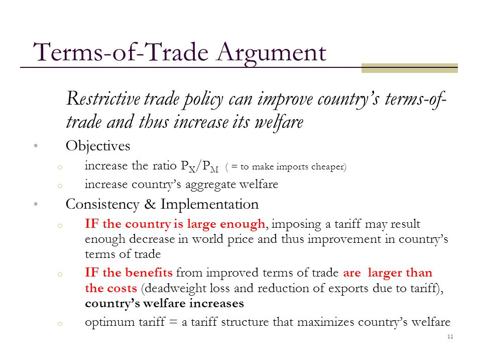 Terms-of-Trade Argument