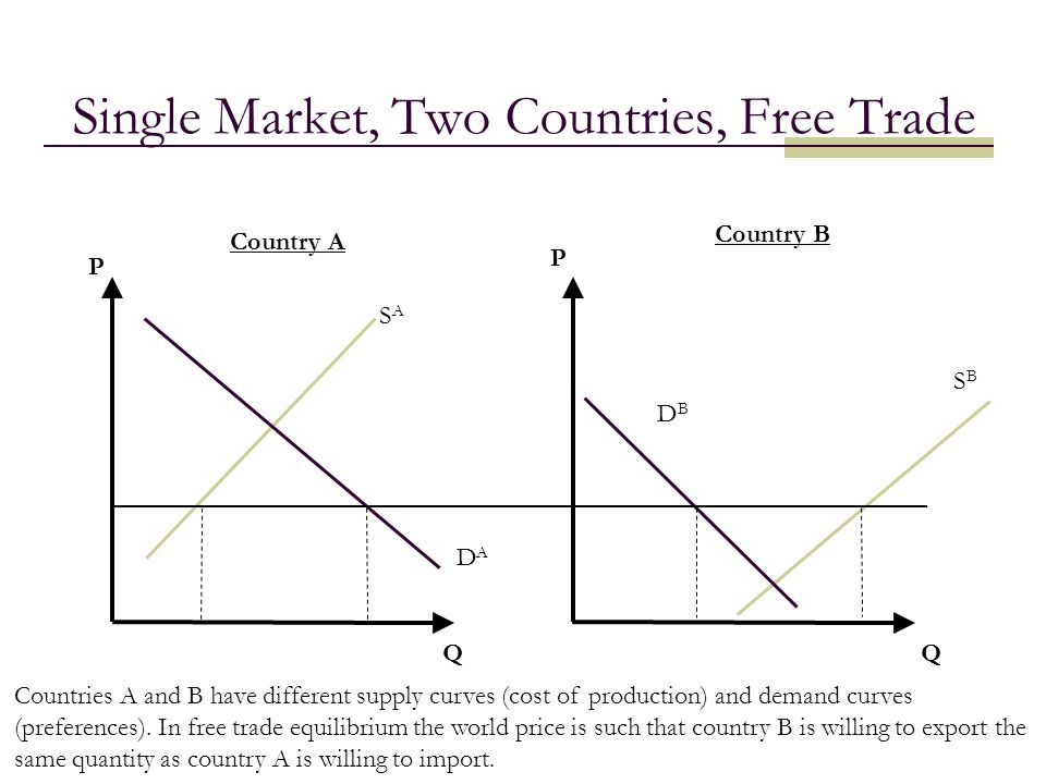 Single Market, Two Countries, Free Trade