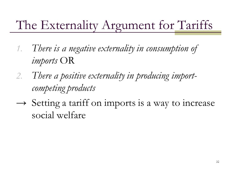 The Externality Argument for Tariffs