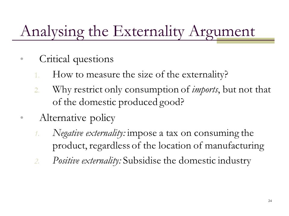 Analysing the Externality Argument