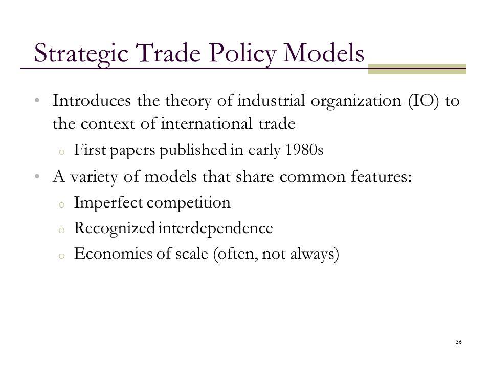 Strategic Trade Policy Models