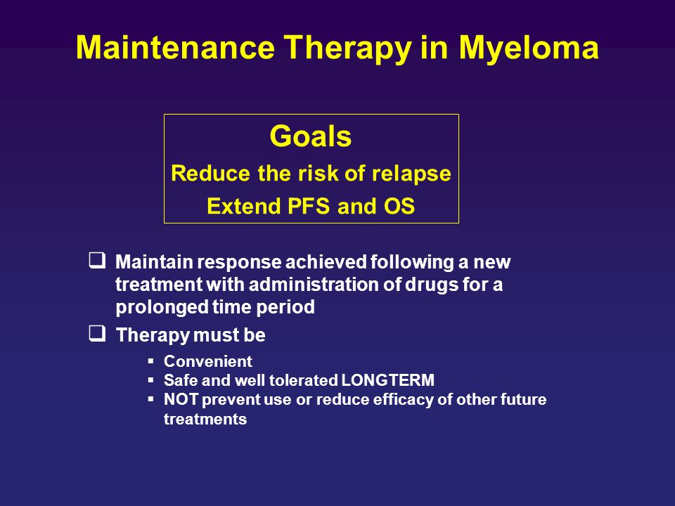 Maintenance Therapy in Myeloma