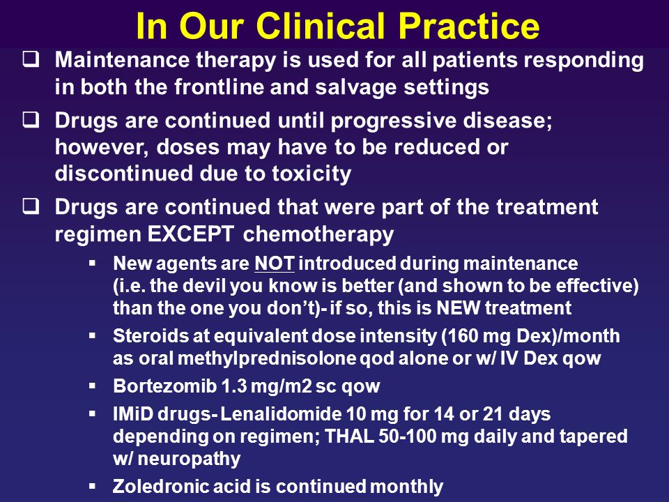 In Our Clinical Practice