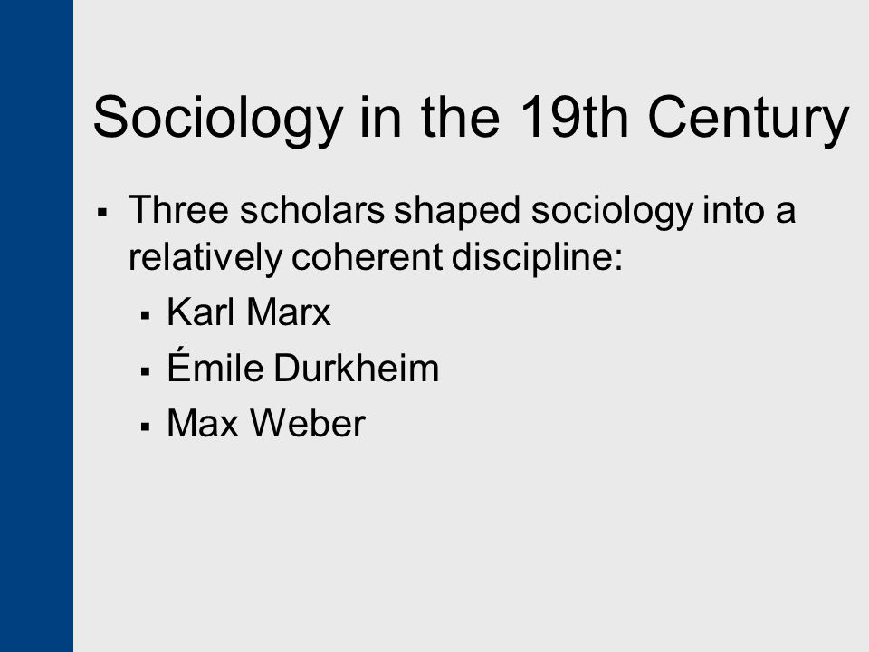 Sociology in the 19th Century