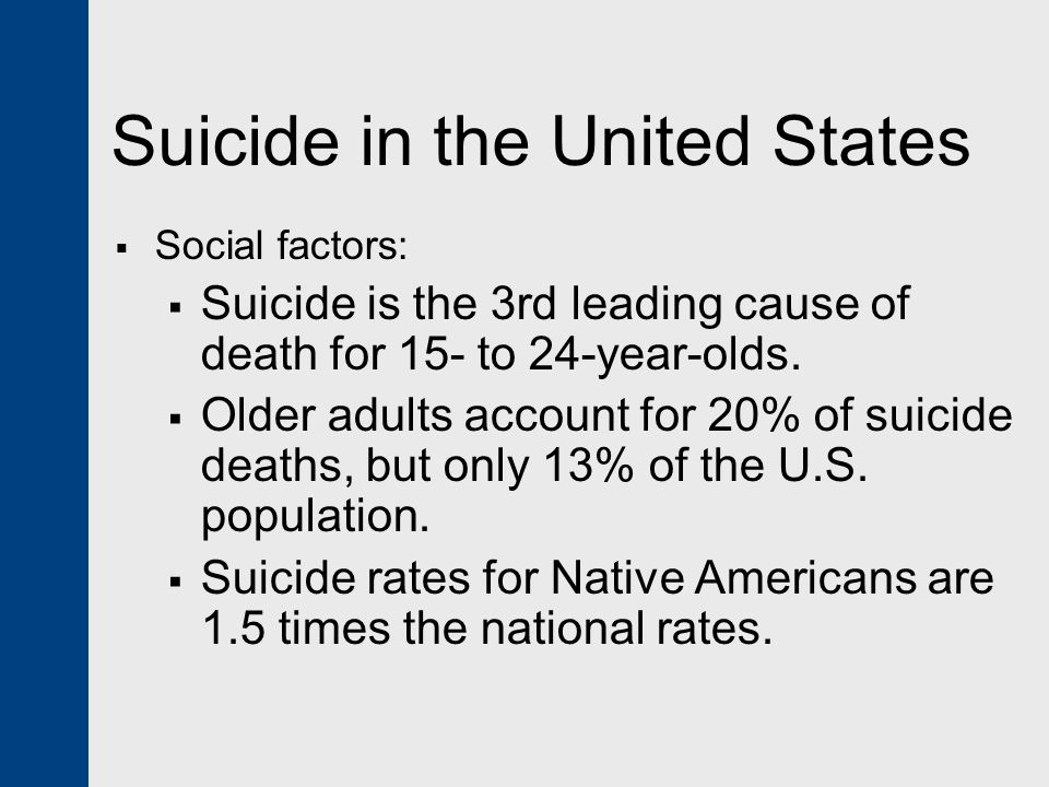 Suicide in the United States