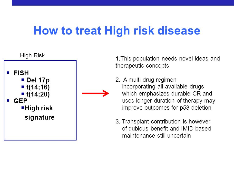 How to treat High risk disease