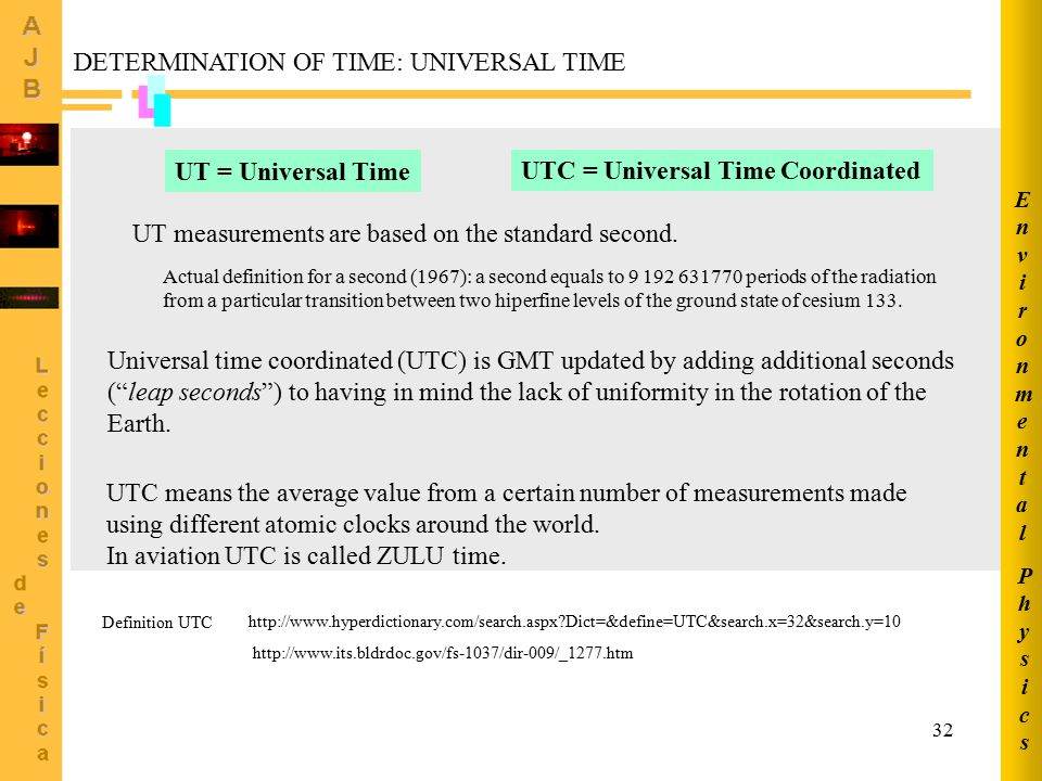 DETERMINATION OF TIME: UNIVERSAL TIME