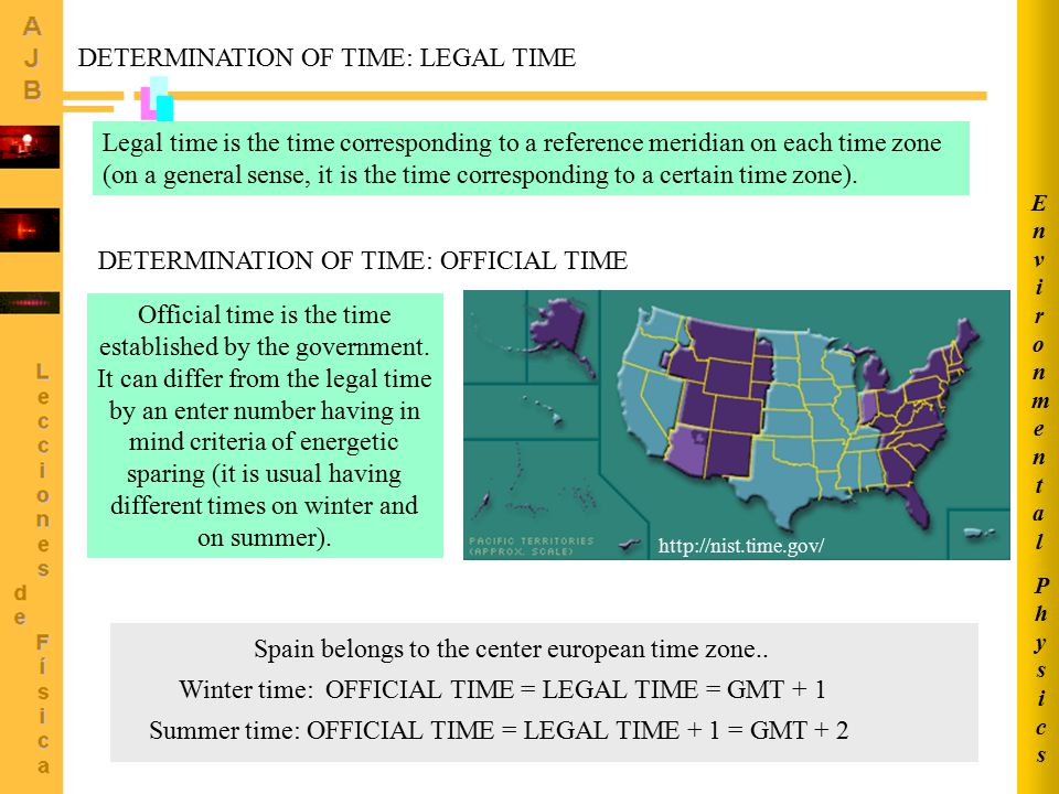 DETERMINATION OF TIME: LEGAL TIME