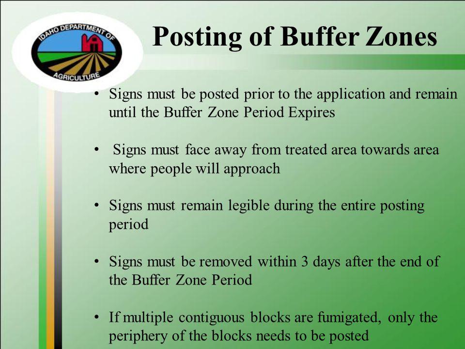 Posting of Buffer Zones