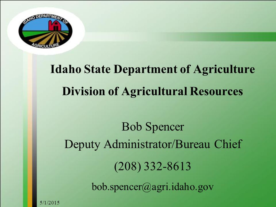 Idaho State Department of Agriculture