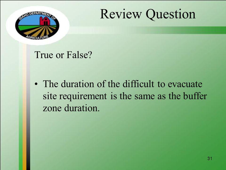 Review Question True or False