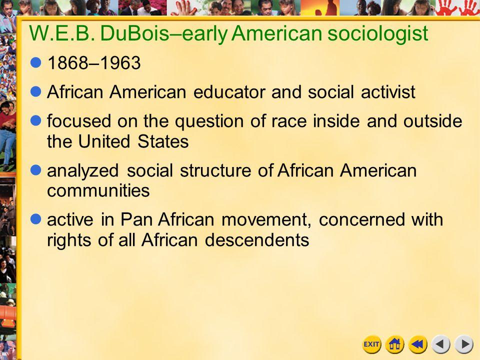 W.E.B. DuBois–early American sociologist