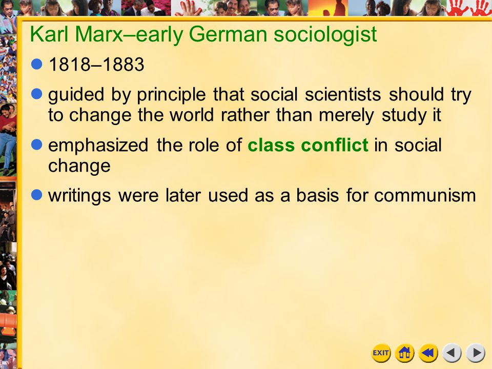 Karl Marx–early German sociologist