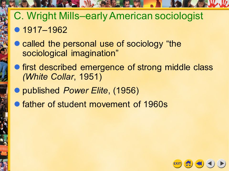 C. Wright Mills–early American sociologist