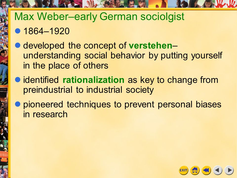 Max Weber–early German sociolgist