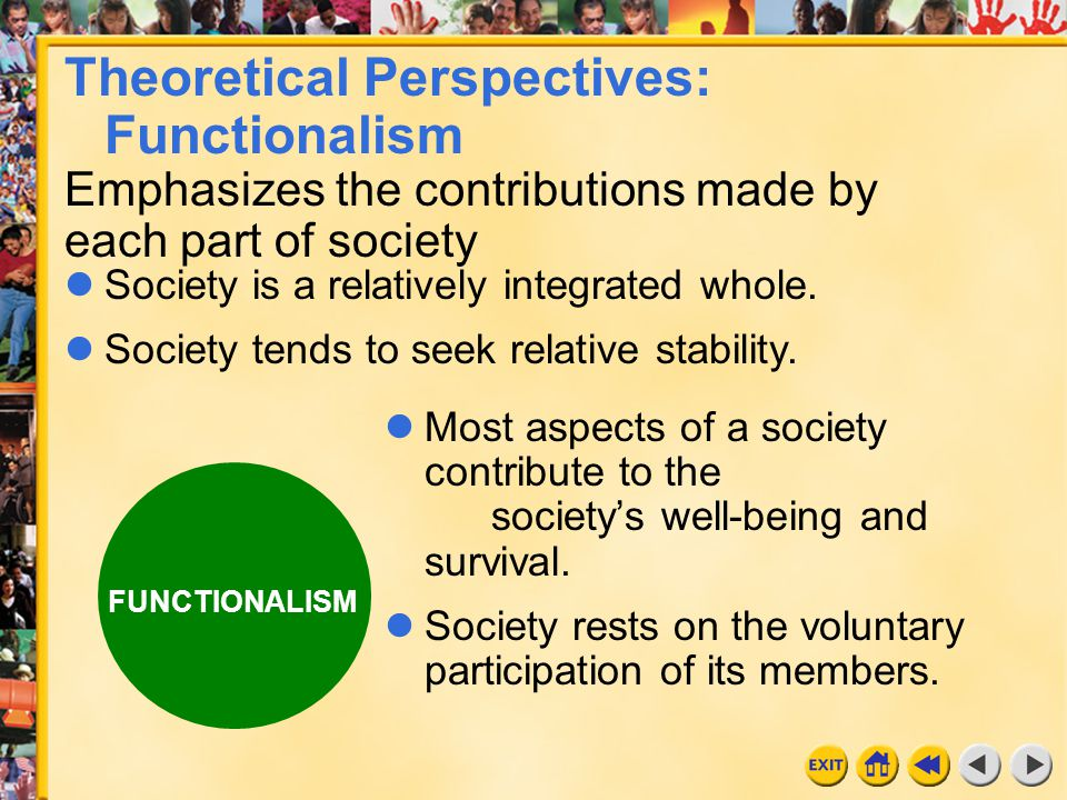 Theoretical Perspectives: Functionalism