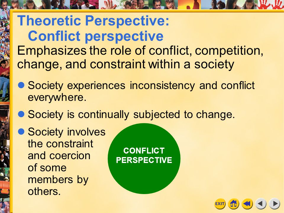 Theoretic Perspective: Conflict perspective