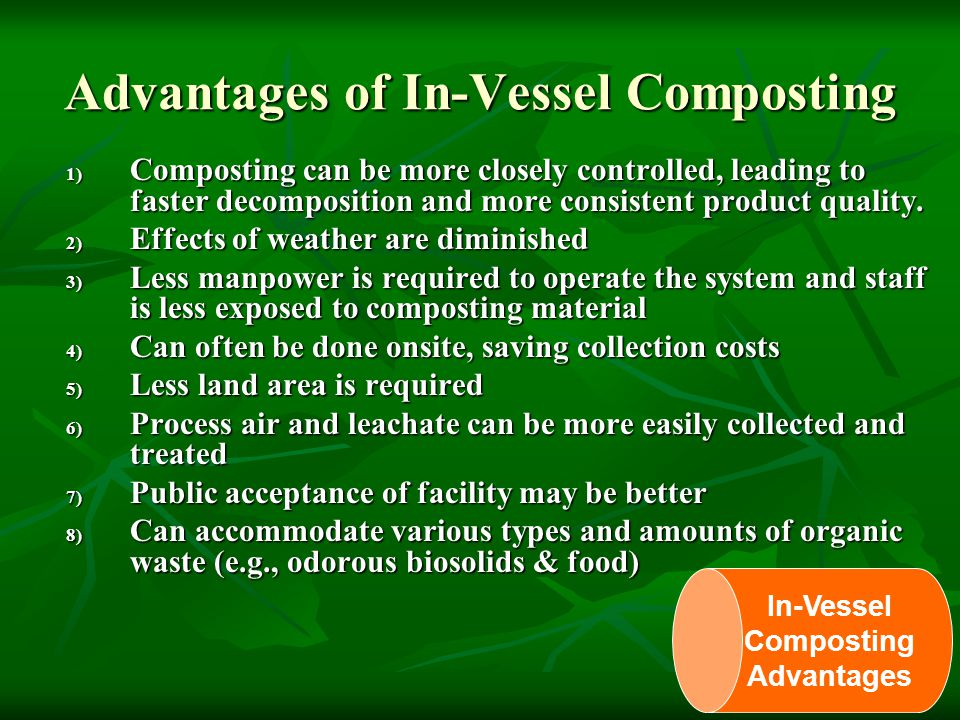 Advantages of In-Vessel Composting
