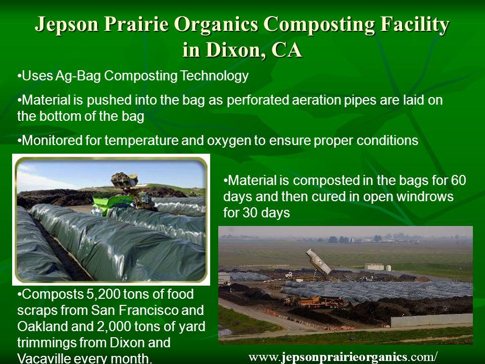 Jepson Prairie Organics Composting Facility in Dixon, CA