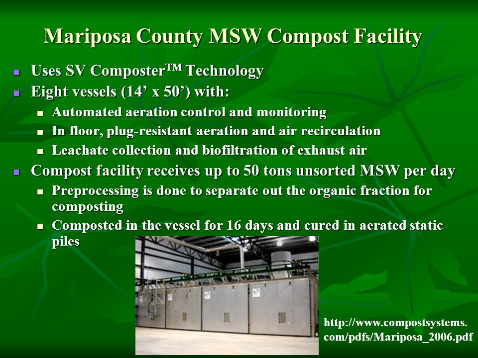 Mariposa County MSW Compost Facility