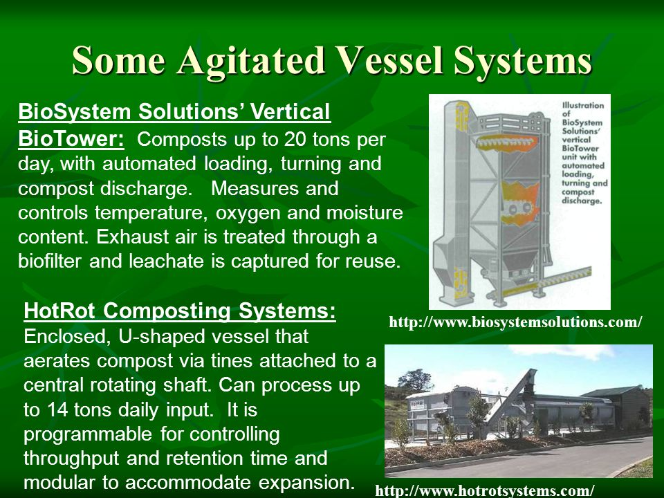 Some Agitated Vessel Systems