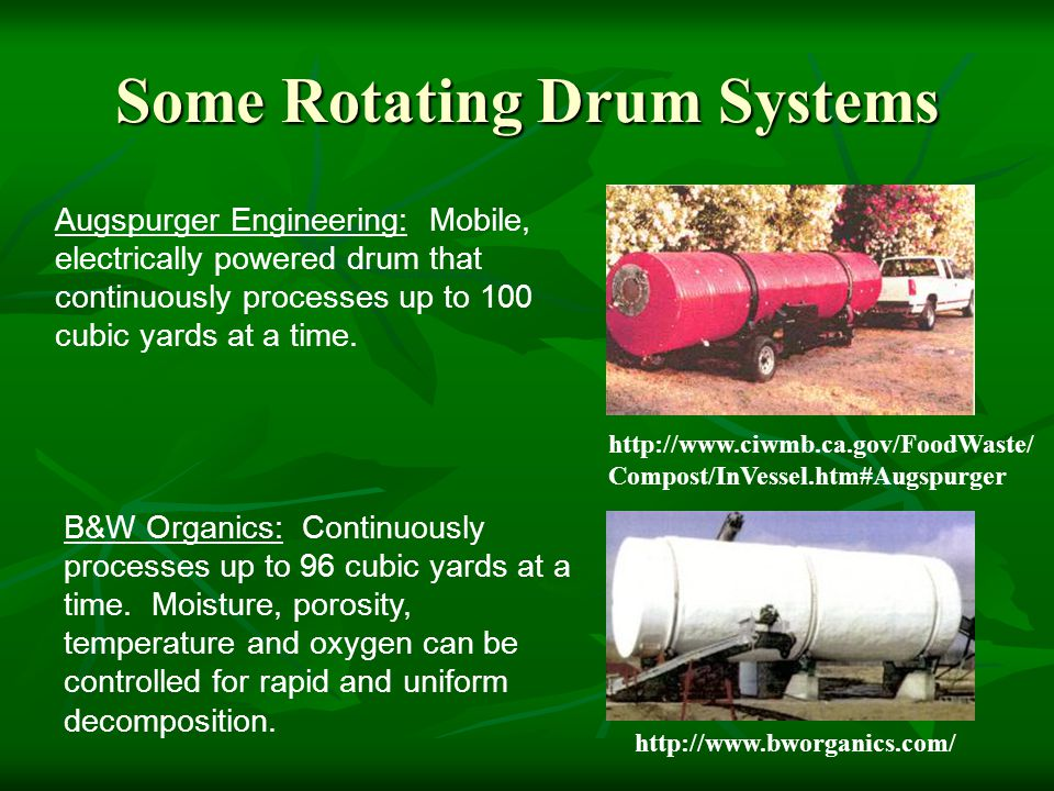 Some Rotating Drum Systems