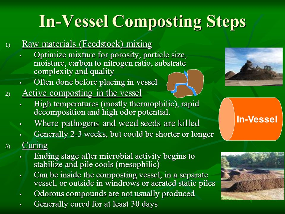 In-Vessel Composting Steps