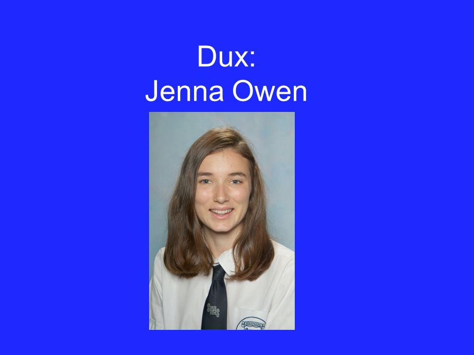 Dux: Jenna Owen