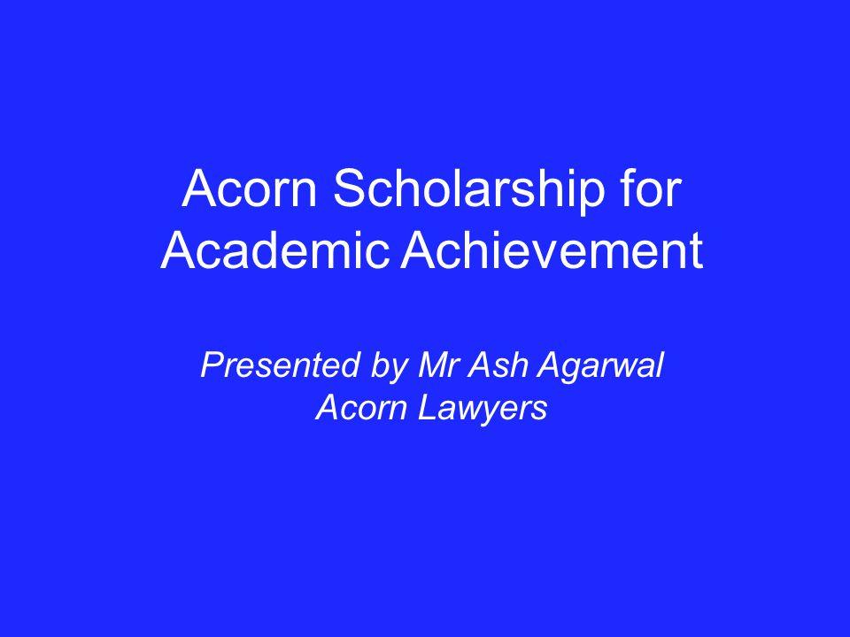 Acorn Scholarship for Academic Achievement