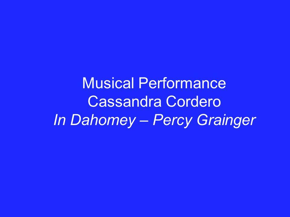 In Dahomey – Percy Grainger