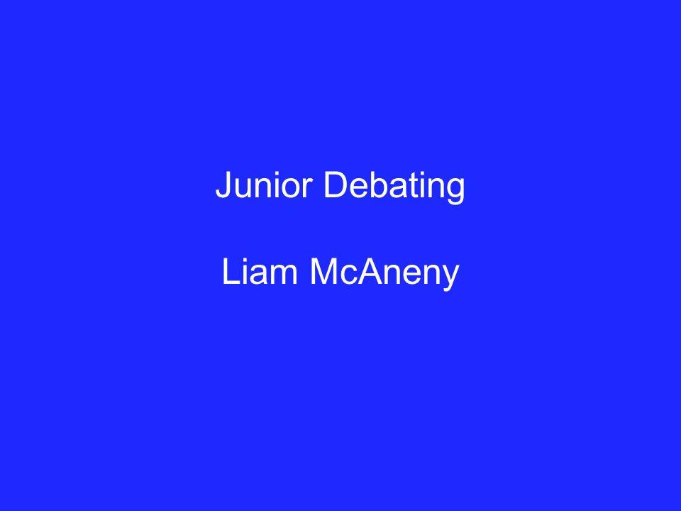Junior Debating Liam McAneny